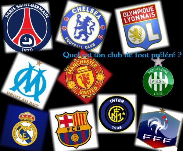 Sondage 70 : Clubs de foot