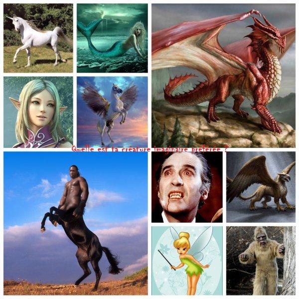 Sondage 72 : Créatures imaginaires