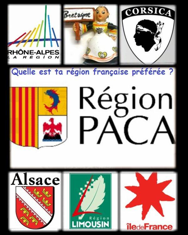 Sondage 76 : Régions françaises