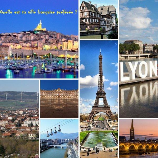Sondage 87 : Villes françaises