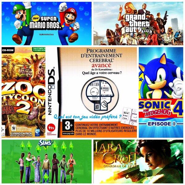 Sondage 90 : Jeux vidéos