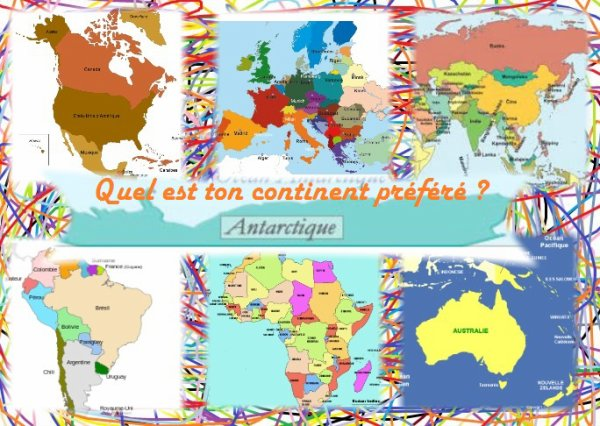 Sondage 91 : Continents