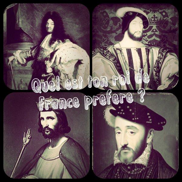 Sondage 97 : Rois de France