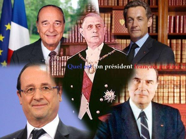 Sondage 98 : Présidents français