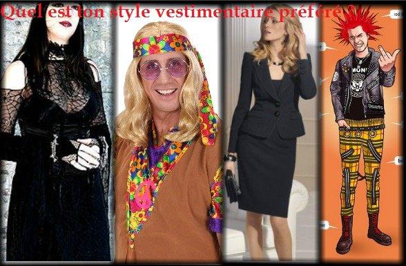 Sondage 102 : Styles vestimentaires