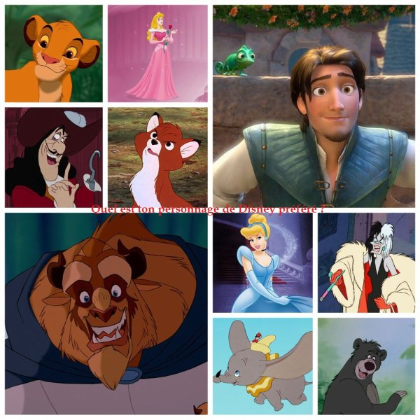 Sondage 104 : Personnages de Disney