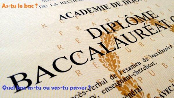 Sondage 111 : Baccalauréat