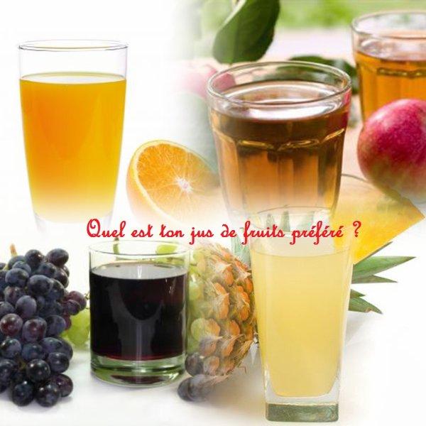 Sondage 133 : Jus de fruits