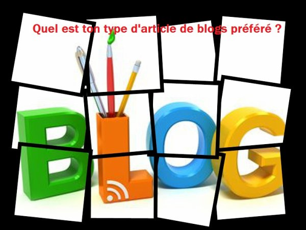 Sondage 142 : Articles de blogs