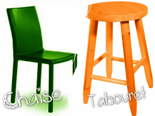 VS 78 : Chaise / tabouret