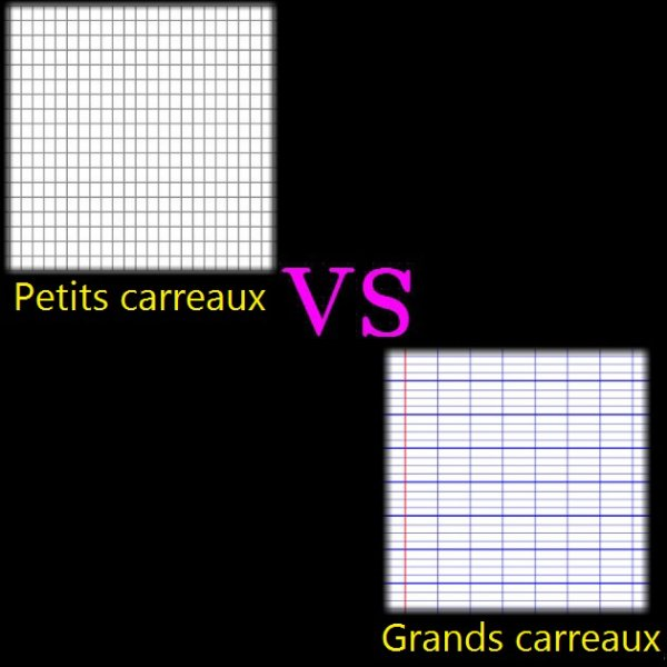 VS 90 : Petits carreaux / grands carreaux
