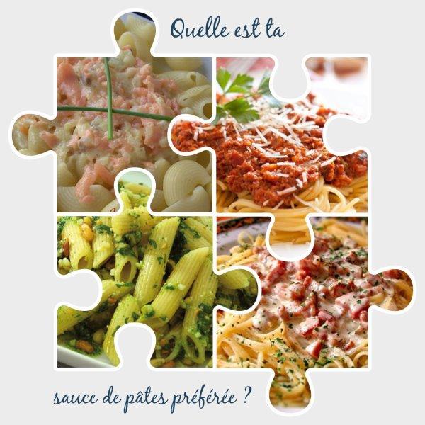 Sondage 146 : Sauces de pâtes