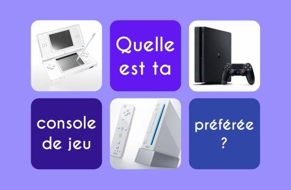 Sondage 151 : Consoles de jeux
