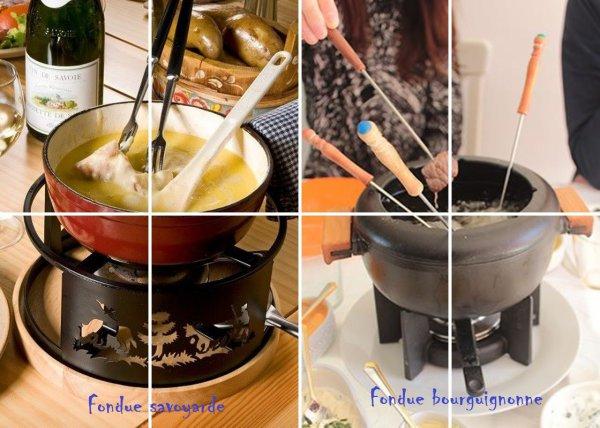 VS 109 : Fondue savoyarde / fondue bourguignonne