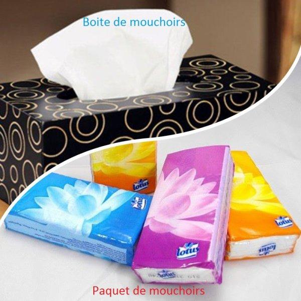 VS 112 : Boite de mouchoirs / paquet de mouchoirs