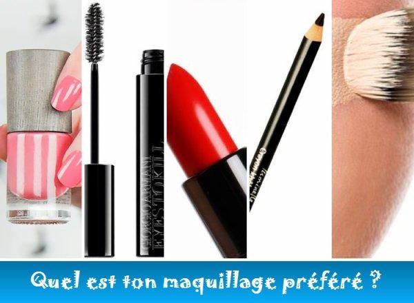 Sondage 162 : Maquillage