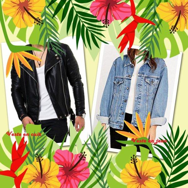 VS 129 : Veste en cuir / veste en jean