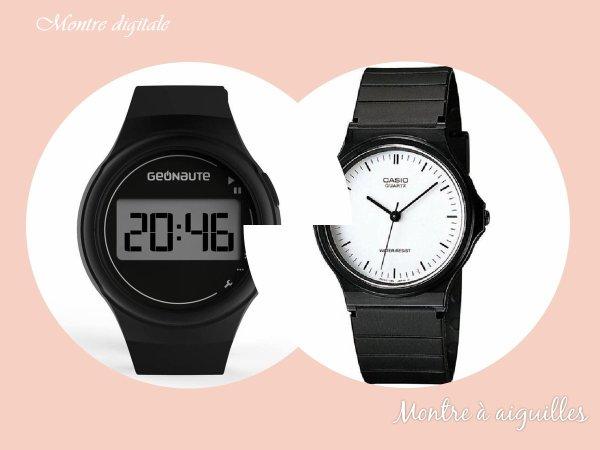 VS 137 : Montre digitale / montre à aiguilles