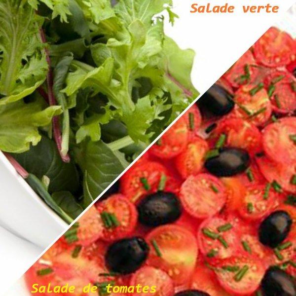 VS 153 : Salade verte / salade de tomates