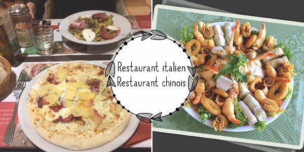 VS 155 : Restaurant italien / restaurant chinois