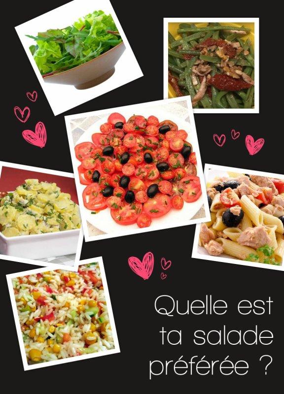 Sondage 179 : Salades