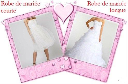 VS 161 : Robe de mariée courte / robe de mariée longue