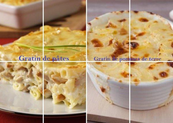 VS 169 : Gratin de pâtes / gratin de pommes de terre
