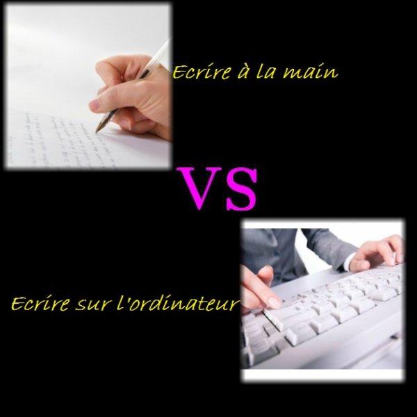 VS 173 : Ecrire à la main / écrire sur l'ordinateur