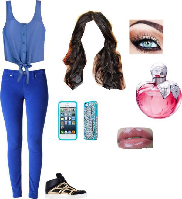 tenue bleu