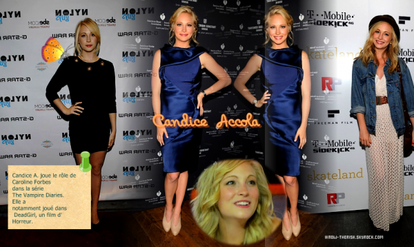 Article n°3 ❥ Candice Accola....