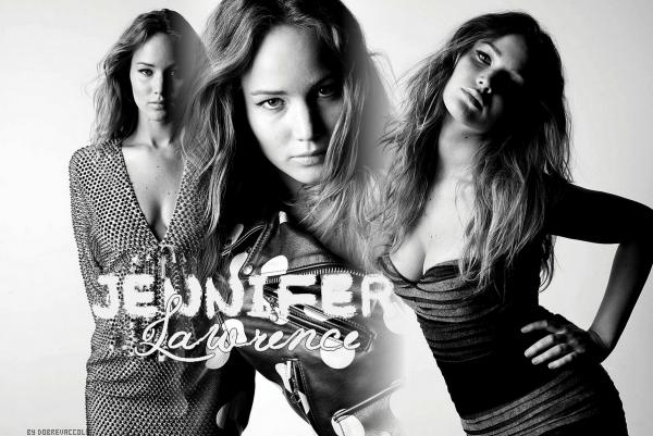 Jennifer Lawrence... Une créa pendant que je m'ennuie, une côte ?