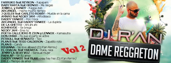Dj R'AN PRESENTE DAME REGGAETON vol 2 PODCAST OFFICIAL