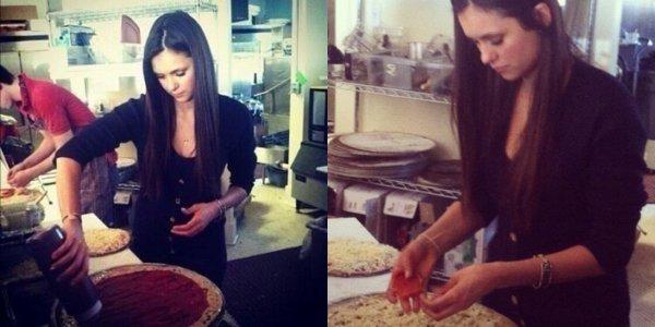 25 novembre 2012– A la pizzeria MccLain's avec Ian, Mandeville à Los Angeles (Fanpics)