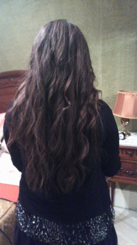 Qui sont beau mes cheveux hi hi