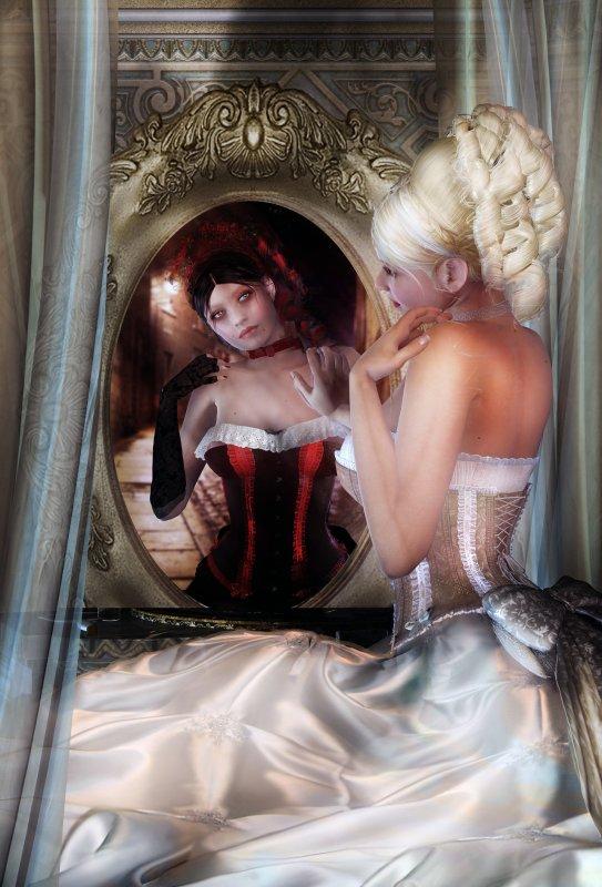 Pétales de miroir...