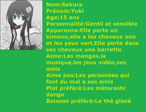 Personnage rp fille #AyaXAllen