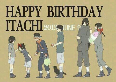 Happy Birthday Itachi Uchiha-san ♡♡!