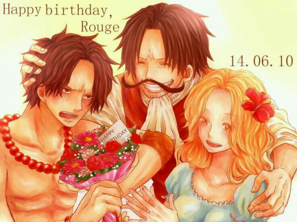 Happy birthday Portgas D. Rouge *^* !