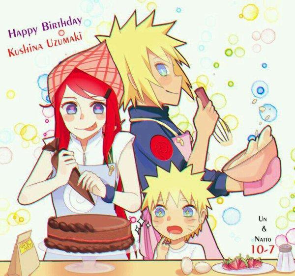 Happy Birthday Kushina ♡♡♡♡ ! L'une des femmes fortes que j'admire *^* !