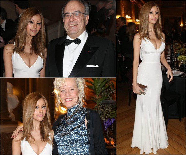 Zahia Dehar lors du dîner de gala au profit de la Fondation AVEC au Château de Versailles, le 3 février 2014.