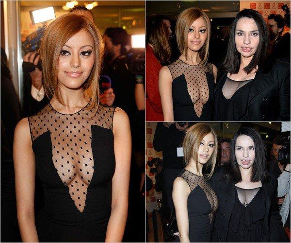 Zahia a l'événement gala Sidaction au Pavillon d'Armenonville à Paris le 24 janvier 2014.