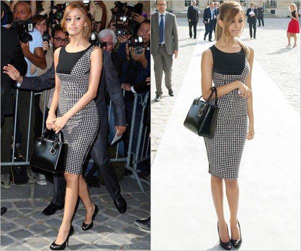 Zahia lors de la Fashion Week pour le défilé de Christian Dior à Paris le 27 septembre 2013.