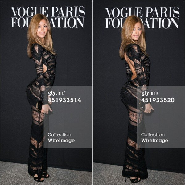 Zahia a été invitée au premier gala de la Vogue Paris Foundation au Palais Galliera à Paris le 9 juillet 2014.