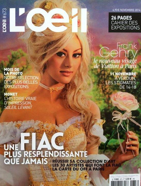"""Zahia en couverture du magazine """"L'Oeil' !"""