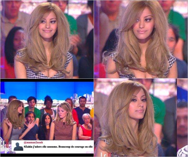 Zahia était sur le plateau de l'émission Le Grand 8 pour une interview qui faisait sa rentrée ce lundi 2 septembre 2013.