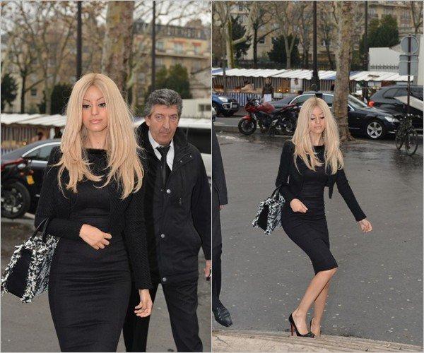 Zahia à été photographiée avant son show haute couture au palais de tokyo à Paris le 23 janvier 2013.