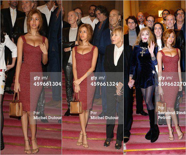 Zahia était à l'événement pour la 19eme édition de la soirée Les Sapins de Noël des Createurs à Paris le 27 novembre 2014.
