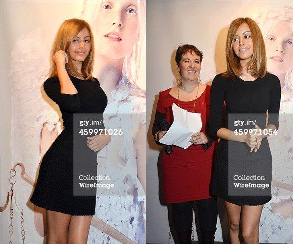 Zahia a l'événement parrainé La Grande Braderie De La Mode pour la lutte contre le virus du sida à Paris, le 4 décembre 2014.