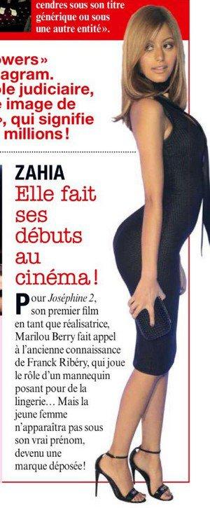 Zahia va jouer dans son premier rôle au cinéma avec le film Joséphine 2 en 2016!