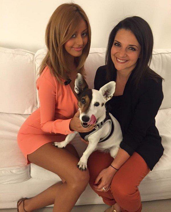 Avec Isabelle Goetz et son petit chien !